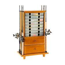 Fishing Rod Storage Cabinet Organized Fishing Tdc 008 2 Drawer Cabinet Rod Holder Tackledirect