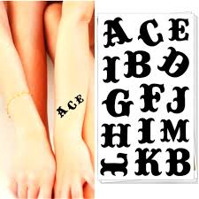 online buy wholesale tattoo lettering alphabet from china tattoo