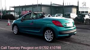peugeot second hand prices 2007 peugeot 207 cc sport 1 6l blue metallic ej07lxl for sale at