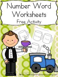number word worksheets cocoa fun