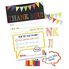 personalized thank you cards 25 chalkboard kids thank you cards fill in thank you