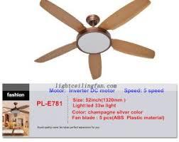 5 light ceiling fan 52inch 5 blades dc motor 5 speed remote led light ceiling fan