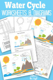 free printable water cycle worksheet itsy bitsy fun