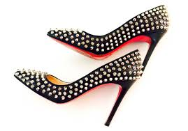 christian louboutin pigalle spikes red sole pump style society