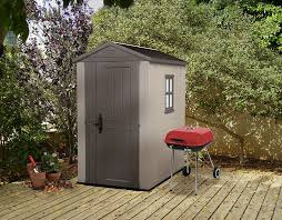 Rubbermaid Roughneck Gable Storage Shed Accessories by Amazon Com Keter Factor Large 4 X 6 Ft Resin Outdoor Backyard