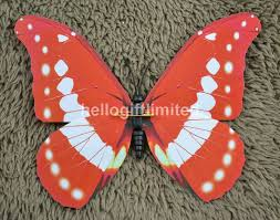 Butterfly Office Decor 50pcs Lot 12cm Width Artificial Butterfly Fridge Magnet Note