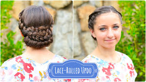 updos cute girls hairstyles youtube how to create a lace rolled updo cute girls hairstyles