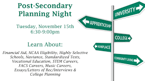 post secondary planning night is coming the beat