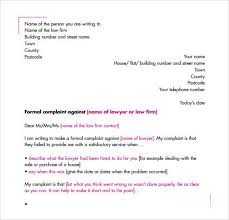 16 sample complaint letters sample letters word