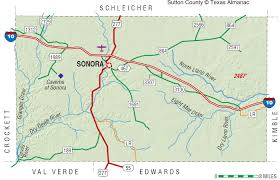 Map Of Sonora Mexico by Sutton County The Handbook Of Texas Online Texas State