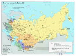 map of ussr large detailed administrative divisions map of soviet union 1981
