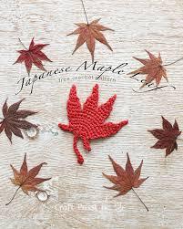 amigurumi leaf pattern japanese maple leaf free crochet pattern craft passion