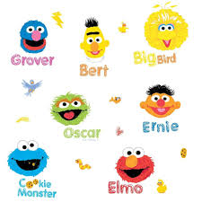 sesame street 26 big wall decals elmo big bird oscar grover room sesame street 26 big wall decals elmo big bird oscar grover room decor sticker 3