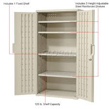 small outdoor plastic storage cabinet awesome plastic storage cabinet 36x22x72 light gray plastic storage