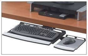 Computer Desk With Adjustable Keyboard Tray Fellowes Office Suites Adjustable Keyboard Tray Black 8031301