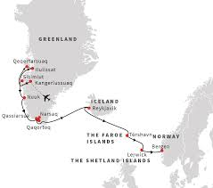 Norwegian Air Route Map by Island Hopping In The Arctic Cruise From Greenland To Norway