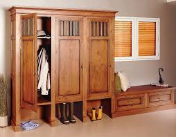 Entry Storage Bench Plans Free by Mudroom Lockers With Doors Traditional Design Wooden Lockers For