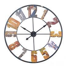 large wall clock large multi colour metal wall clock