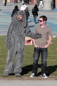 Wilfred Costume Jason Gann Photos Photos Elijah Wood And Jason Gann Film