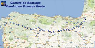 Air France Route Map by Camino Frances Map Recana Masana