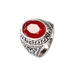 aliexpress com buy indian jewelry punk ruby natural stone rings