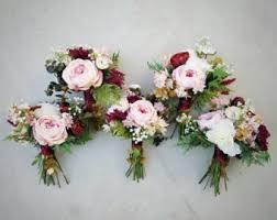 wedding flowers for bridesmaids wedding bouquets wedding flowers silk flowers by thefauxbouquets