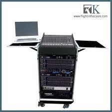 Audio Rack Case Rk Dj Audio Case Stage Custom Rack Case With Laptop Tray Buy Dj