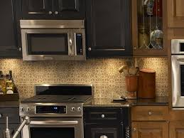bathroom black kitchen cabinets with under cabinet microwave and