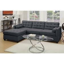 Reversible Sectional Sofa Chaise by Poundex Bobkona Hardin Reversible Chaise Sectional F7587