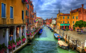 italy houses venice canal street hdr cities wallpaper 2560x1600