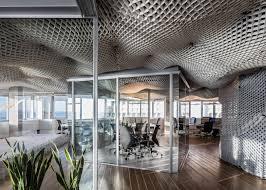 google tel aviv office paritzki u0026 liani architects creates cloud like ceiling for office