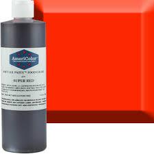 super red americolor soft gel paste food color old 41 7720