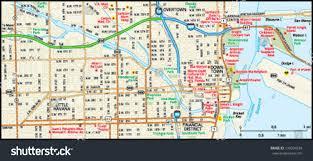 Miami Florida Map by Miami Florida Downtown Map Stock Vector 139204238 Shutterstock