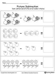 kindergarten subtraction printable worksheets myteachingstation com