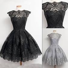 grad gowns dresses for prom black vintage lace appliques sheer real