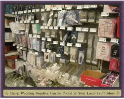 wedding supplies cheap get to your local craft store beautifulcheapweddings