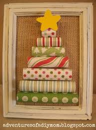 advent calendar rolled paper christmas tree and burlap ruffle