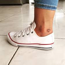 small tattoo heart ankle tattoo pinterest tattoo hearts