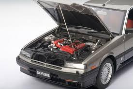 nissan 2000 engine nissan skyline rs x turbo dr30 1 18 scale model car autoart