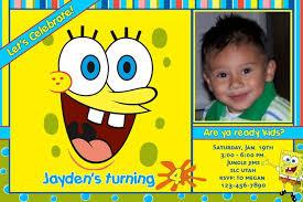 spongebob birthday invitations lilbibby com