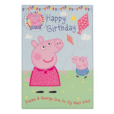 peppa pig birthday peppa pig birthday card happy birthday with safety