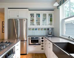 Classic White Interior Design Refrigerator In Modern Kitchen Interior Design Small Design Ideas