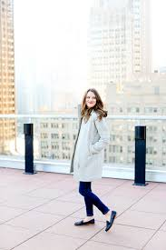 how to style a j crew coat