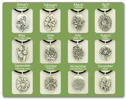 flower of the month flower of the month pendants