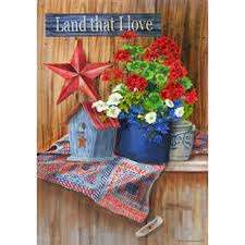 Patriotic Garden Decor Land That I Love Patriotic Garden Flag Garden Flags Flags And