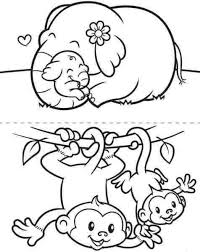 7 elephant images coloring pages kids