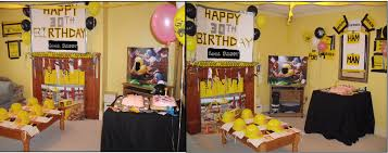 Male birthday party decorating ideas