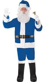 blue santa hat plush blue santa hat party city