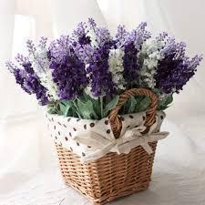 10pcs lavender artificial flowers home wedding tale decoration