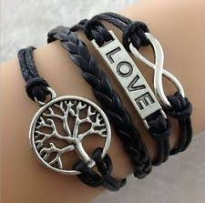 Popular Items For Love Anchors - hot infinity love anchor leather cute charm bracelet plated silver